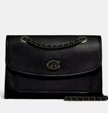 ❤️ Coach Parker 75575 Black/Pewter Shoulder Bag