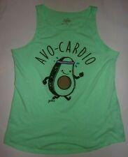 Justice girls avo-cardio avocado swing tank top shirt size 12