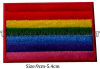 gay flag rainbow iron sew on patch LGBT gay pride  badge  #134