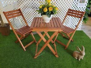 Brazilian Wood Bistro outdoor patio Set 😍