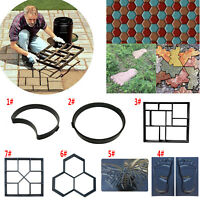 DIY Garden Path Patio Maker Mold Paving Cement Brick Mould Ornament Stone Road