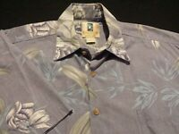 Kahala Mens Small Short Sleeve Button-Front Multicolor Floral Hawaiian Shirt