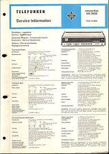 Telefunken Service Manual für Concertino 3030