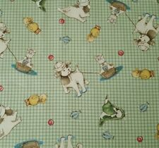 Best Friend Bunnies by the Bay BTY VIP Exclusive Chick Green Windowpane Plaid
