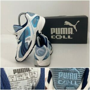 Puma Cell Pryde Womens Running Shoe White Blue UK Size 5