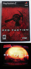 Red Faction for Playstation 2 - PS2 with Manual ** TESTED **