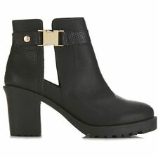 Miss Selfridge Ambrose Gold Clip Ankle Boots Size 5/38 BNWT RRP £45 Black