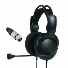 Intercom Headset headphones w/Mic 4/5-pin XLR ClearCom RTS Telex BTR HME STEREO!