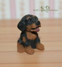 "FG 1619 - Hund ""Welpe"" - Miniatur Puppenhaus Puppenstube ca. 1:12"