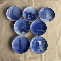 Bing & Grondahl 1910-1912, 1916-1919 Christmas Plate Collectible Denmark Lot