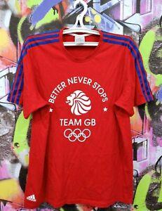 Great Britain Olympic Football Team Soccer Jersey Shirt Top Adidas 2011 Mens  L