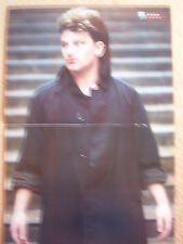"U2 Bono in a black shirt Centerfold magazine POSTER  17x11"""