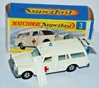 Matchbox Superfast No 3 Mercedes Benz Binz Ambulance in CREAM 5 Spoke wheels