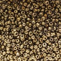 Perles de Rocaille 2mm couleur vieil or foncé opaque brillant (x 20g)