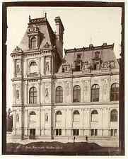 Paris, Hôtel de Ville. Pavillon de sud est Vintage albumen print. Tirage album
