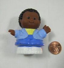 Fisher Price Little People MICHAEL African American Boy DAD in Blue Blazer Rare!