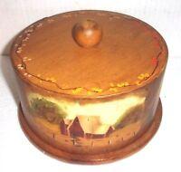 Beautiful Hand Painted Folk Art Wooden Cheese Keeper