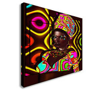 Afro American Fashion Beauty - Hair Wall Art Canvas Print, Great Value sq