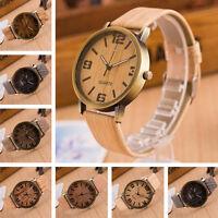 Wood Style Retro Watches Womens Men Vintage Waterproof Waist Watch Analog Quartz