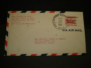 APO 47 WERTHEIM, GERMANY 1951 Army Air Force Cover Civilian Mail