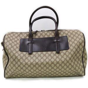 Gucci Boston Bag  Light Brown PVC 711718