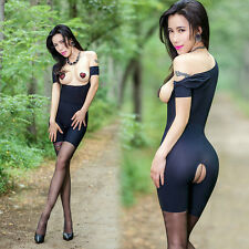 Ladies Bodysuit Open Bust Hip Cupless Crotchless Lingerie Playsuits Sexy Erotic