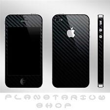 COVER CASE STICKER VINYL IPHONE 4 4G 4S FIBER OF CARBON STICKER+ PROTECTOR