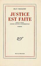 EO N° PUR FIL JEAN MECKERT + ANDRÉ CAYATTE & CHARLES SPAAK : JUSTICE EST FAITE