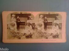 STB971 Scène de genre enfants jeux landau poupée stereoview photo STEREO 1900