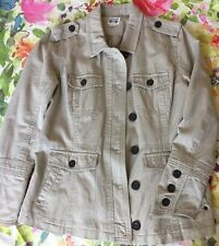 Converse Women's Khaki Tan Military Inspired 100% Cotton Jacket Size XL Lined