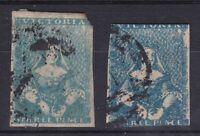 V273) Victoria 1854-57 QV Half-length Campbell & Fergusson printing