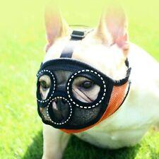 Short Snout Dog Muzzle Adjustable Anti Bite Mask Brethable Dogs Mouth Muzzles