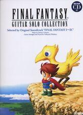 Final Fantasy Solo Guitar Collections I ~ IX Score Sheet Music Japan Book w/ CD