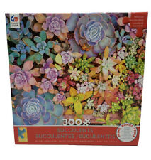 "SUCCULENTS PRETTY PASTELS 300 LARGE PIECE JIGSAW PUZZLE ~ CEACO ~ 24""X18"" ~ NEW"