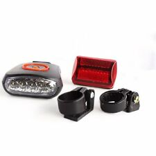 3 pack - 5 LED Lamp Bike Bicycle Front Head Light + Rear Safety Flashlight