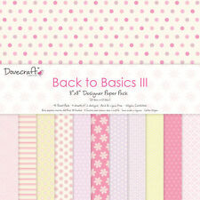 LOT PAPIER FEUILLE SCRAPBOOKING SCRAP BACK TO BASICS III 30X30 cm