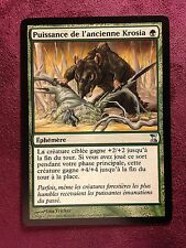 Puissance de l'Ancienne Krosia    VF    MTG PLAYED (see scan)