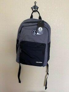 Volcom Academy BackPack black/gray Bookbag Unisex School Laptop pockets NWT