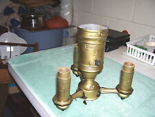 Vintage Colonial Premier Lamp Cluster Shade Holder Mogul Center 3 Arm