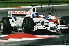 """Controlador de prueba de 1 forumla Anothony Davidson foto firmada de mano 12x8"""" F1 AB"""