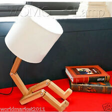 Modern Style White Wooden Height 48.5Cm Desk Light Bedside Lighting Table Lamp