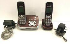 Panasonic Cordless Phone Set 6.0 Plus Talking CID 2 Handsets KX-TG6521 Burgundy
