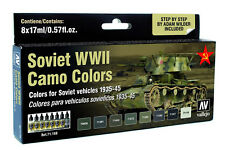 Soviet Russian WW2 Vehicle Camo Colors: 8 Airbrush Paint Set (Vallejo 71188)