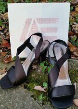 NIB Womens American Eagle US 9.5 EUR 42 Black HEIDI Slingback Strappy Heels Shoe