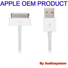 CAVO CAVETTO USB ORIGINALE APPLE PER IPHONE 3G 3GS 4 4S SYNC DATI RICARICA BIANC