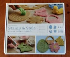WILLIAMS-SONOMA STAMP & STYLE EASTER COOKIE CUTTERS SET - NEW IN BOX