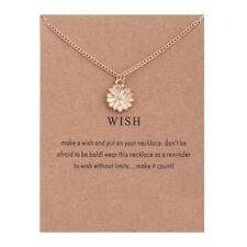WISH Sunflower Pendant Short Necklace