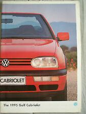 VW Golf Cabriolet brochure 1995