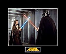 "STAR WARS Darth Vader vs Ben Kenobi Lightsabers Duel 8""x10"" Photo-11""x14"" Matted"
