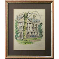 Original Framed Landscape Watercolour Painting Holloway Queens Parade House Bath